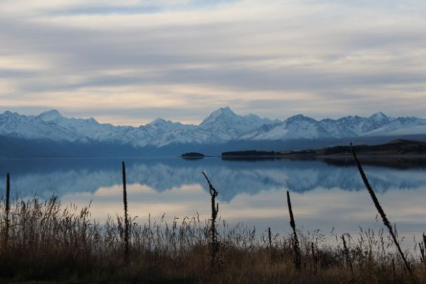 Lake Pukaki after sunset