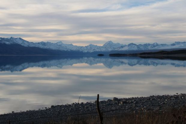 Lake Pukaki in evening light