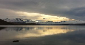 Lake Tekapo and clouds