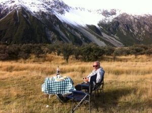 Mount Cook picknic