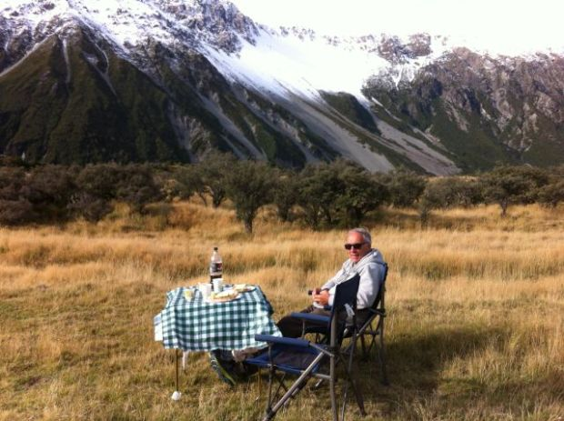 Mount Cook picknic