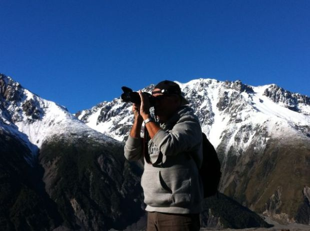 Photographing mountains in Mount Cook National Park
