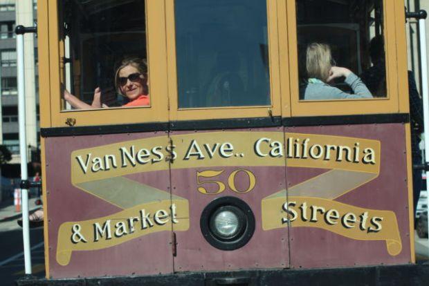 San Francisco sightseeing: a cable car