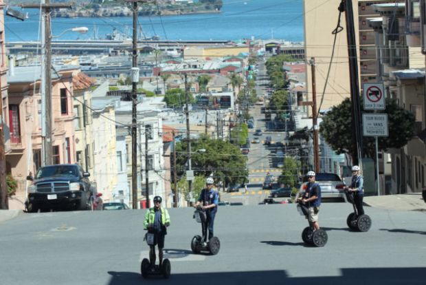 A San Fransisco city tour on Russian Hill