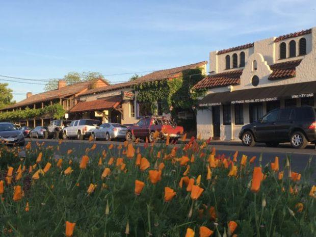 Sonoma town center, California