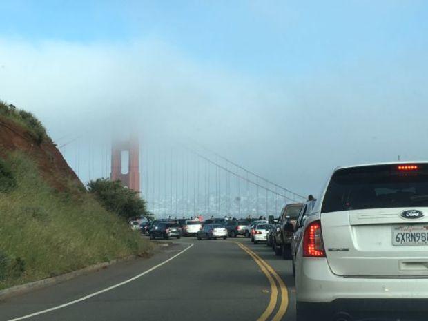 Vista Point and Golden Gate Bridge
