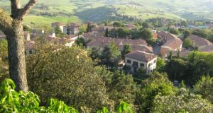 Tuscany scenic drive view from Volterra