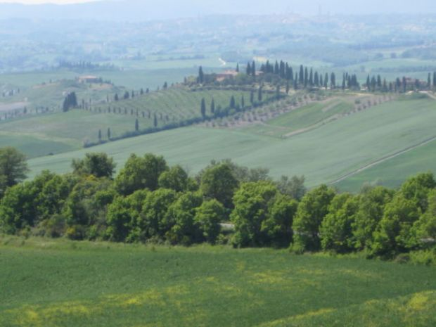 Crete Senesi hills, Tuscany scenic drive