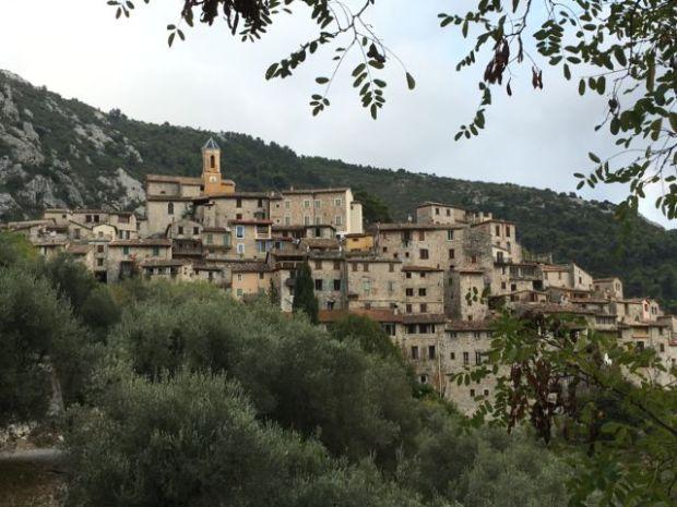 The mountain village of Peillon, France