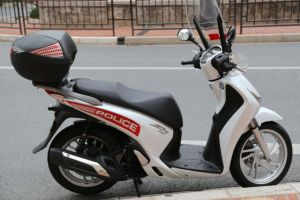 Police scooter in Monaco
