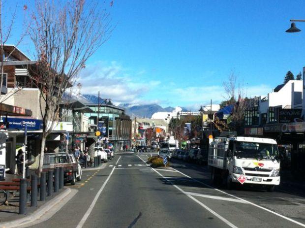 Queenstown main street, New Zealand