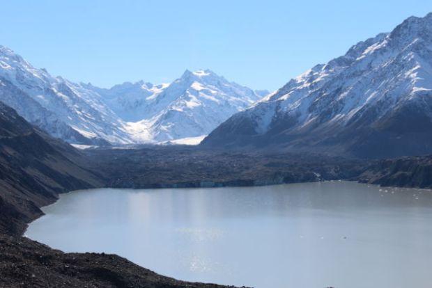 Tasman Glacier and Lake Aoraki Mount Cook