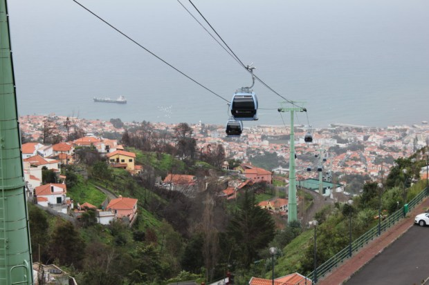 Cable car from Funchal to Monte