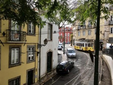 Lisbon tram in Alfama