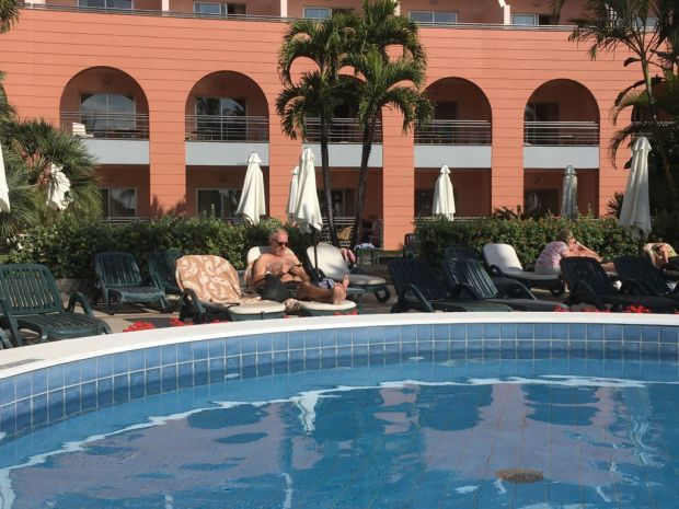 Sunbathing in Funchal