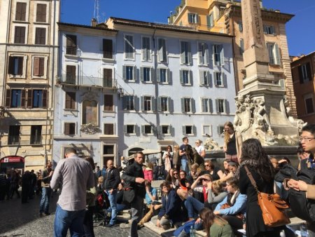 Saturday on Piazza della Rotonda