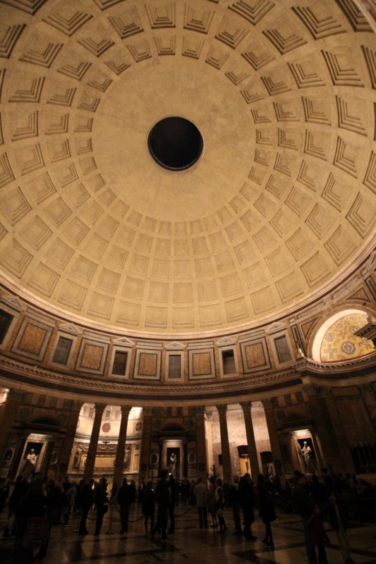 Pantheon interior in the evening