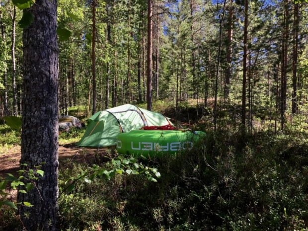 Camping in Southern Konnevesi National Park