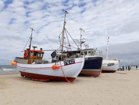 Fishing boats on Lokken beach