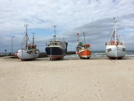 Lokken fishing boats, North Jutland