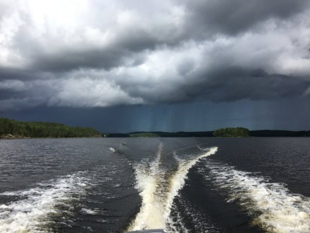 Thunder storm approaching from the lake