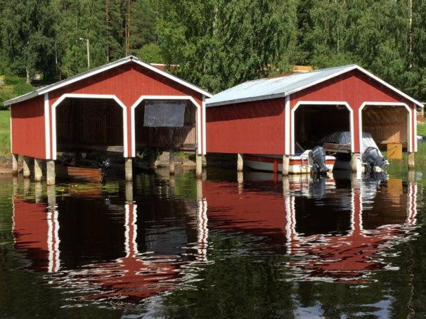 Virrat boat sheds, Lake Näsijärvi