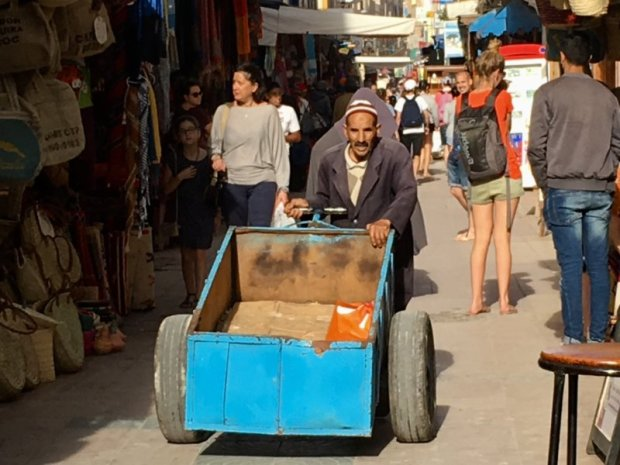 An Essaouira man with his carriage