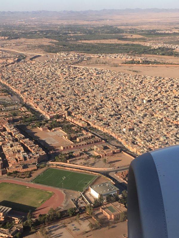 Landing in Marrakech, Morocco