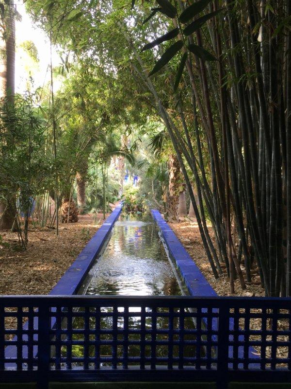 Majorelle Gardens canal