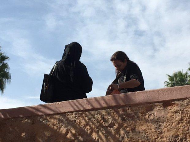 Women outside of Koutobia Mosque