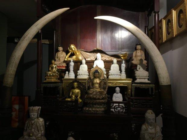 Gangaramaya Temple interior, Colombo