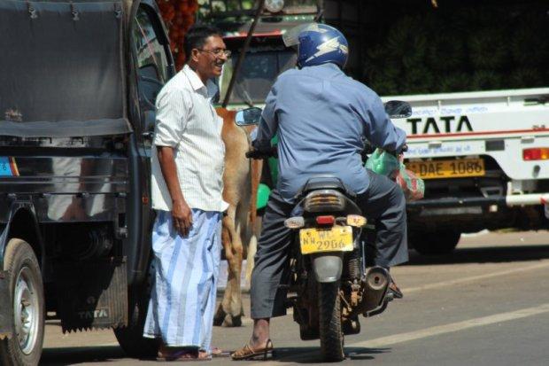 In the traffic, Sri Lanka