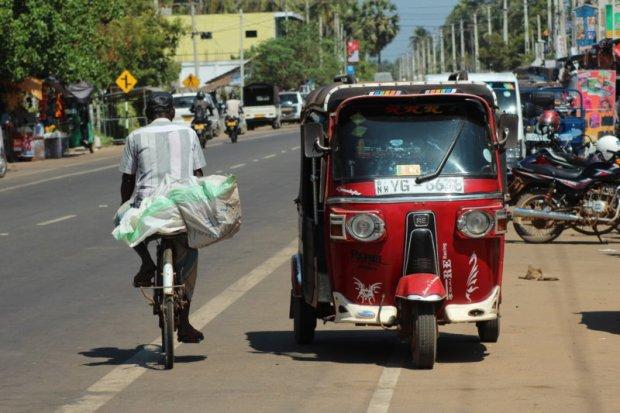 Kalpitiya Peninsula main road, Sri Lanka