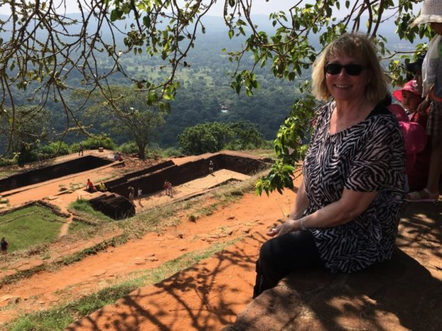 On the top of Sigiriya Rock, Sri Lanka
