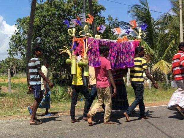 Sri Lankan funeral procession