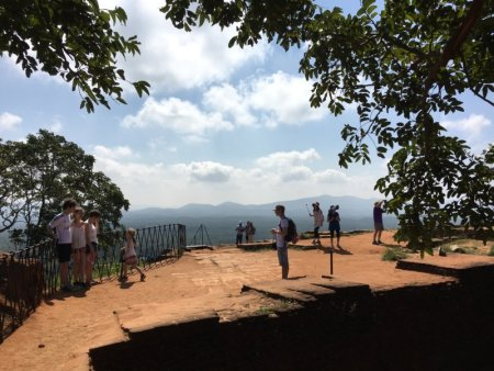 On the top of Sigiriya Rock