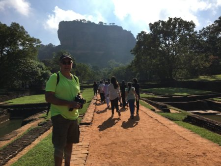 Walking to Sigiriya Rock