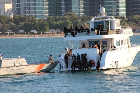 Boating off Corniche Abu Dhabi