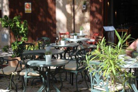 Cafe in mountain village, Mallorca