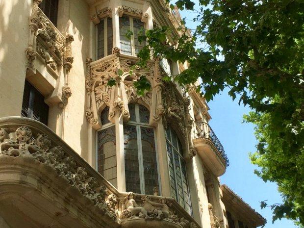 Details of the former Grand Hotel of Palma de Mallorca