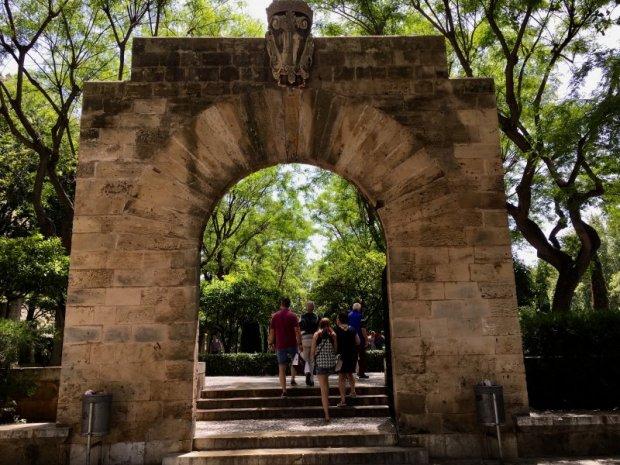 Park gate, Antoni Maura, Palma de Mallorca