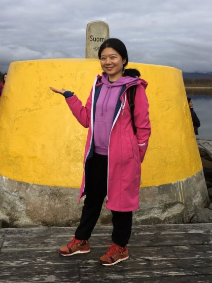 Student on the three country border, Kilpisjärvi