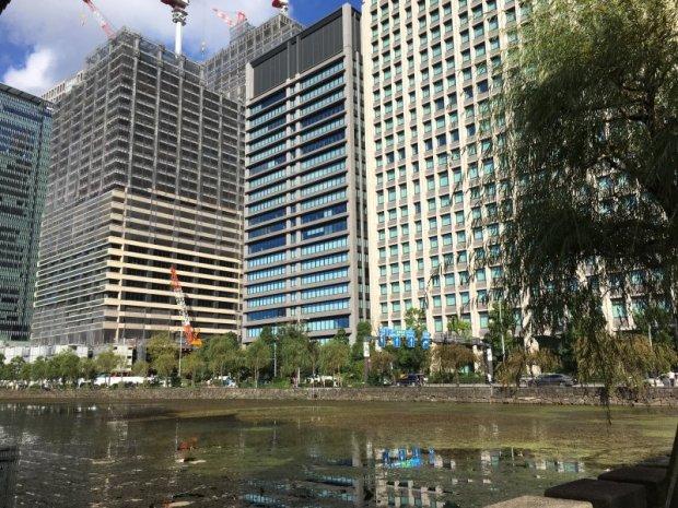 Marunouchi skyscrapers from Ote-bori, Tokyo