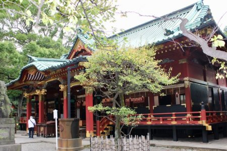 Nezu Shrine main hall