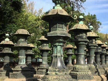 Tosho-gu Shrine statues, Tokyo