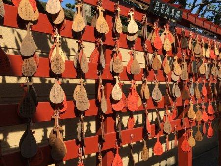 Ueno Park prayer wood signs