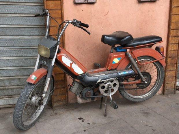 An old motor bike, Marrakech