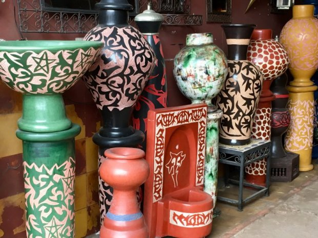Ceramics for sale in the souks, Marrakech