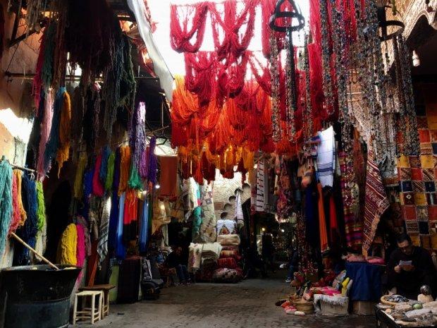 Dyers' Souk, Marrakech, Morocco
