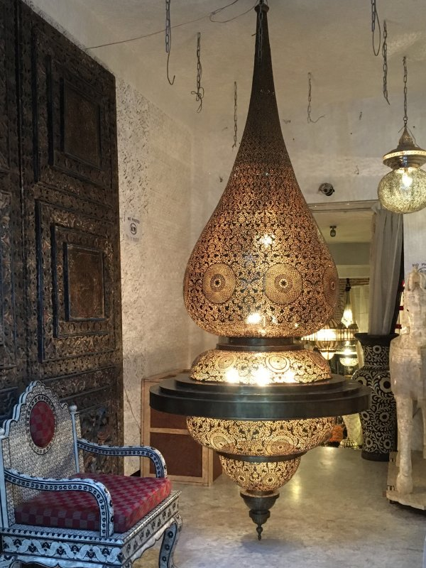 Moroccan lamp in the souks of Marrakech